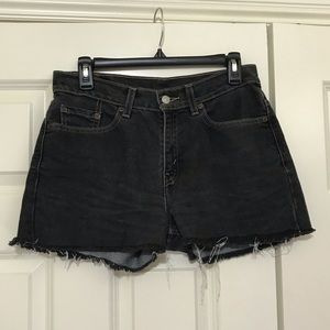Vintage Levi's Denim Shorts/ Washed Black